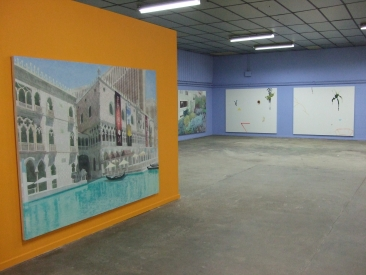"""Vues de l'exposition """"……."""" au BBB"""